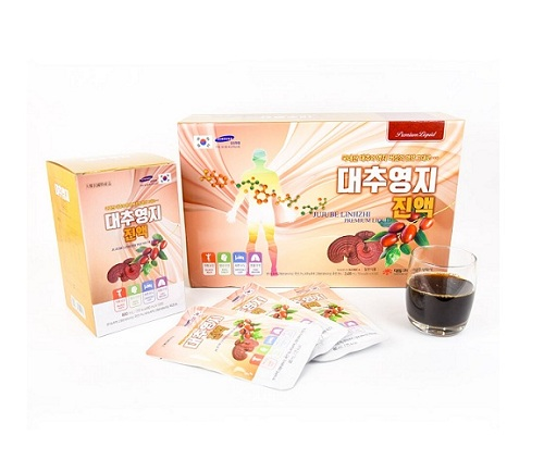 Qùa Sang Trọng - Nước Linh Chi Táo Đỏ Hàn Quốc Hộp 30 Gói