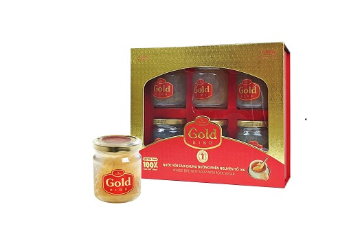 Gold Bird Hộp Quà 6 Lọ 190gr - Súp Yến Nguyên Tổ