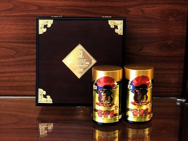 Quà sang trọng Cao hồng sâm cô đặc Hàn Quốc hộp gỗ 2 lọ 250gr