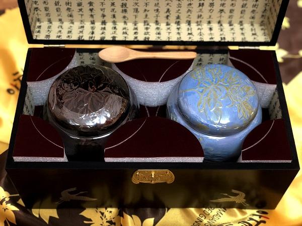 Quà tặng sang trọng Cao hồng sâm hũ đôi Hoàng đế Hoàng Hậu