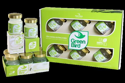 Quà tặng nước yến Green Bird - hộp quà 6 lọ 75gr