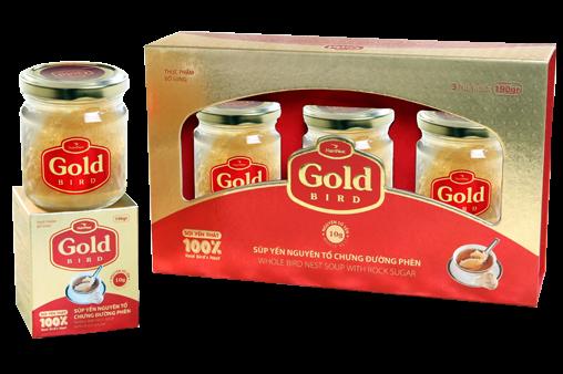 Quà tặng Súp Yến nguyên tổ Gold Bird hộp quà 3 lọ 190gr