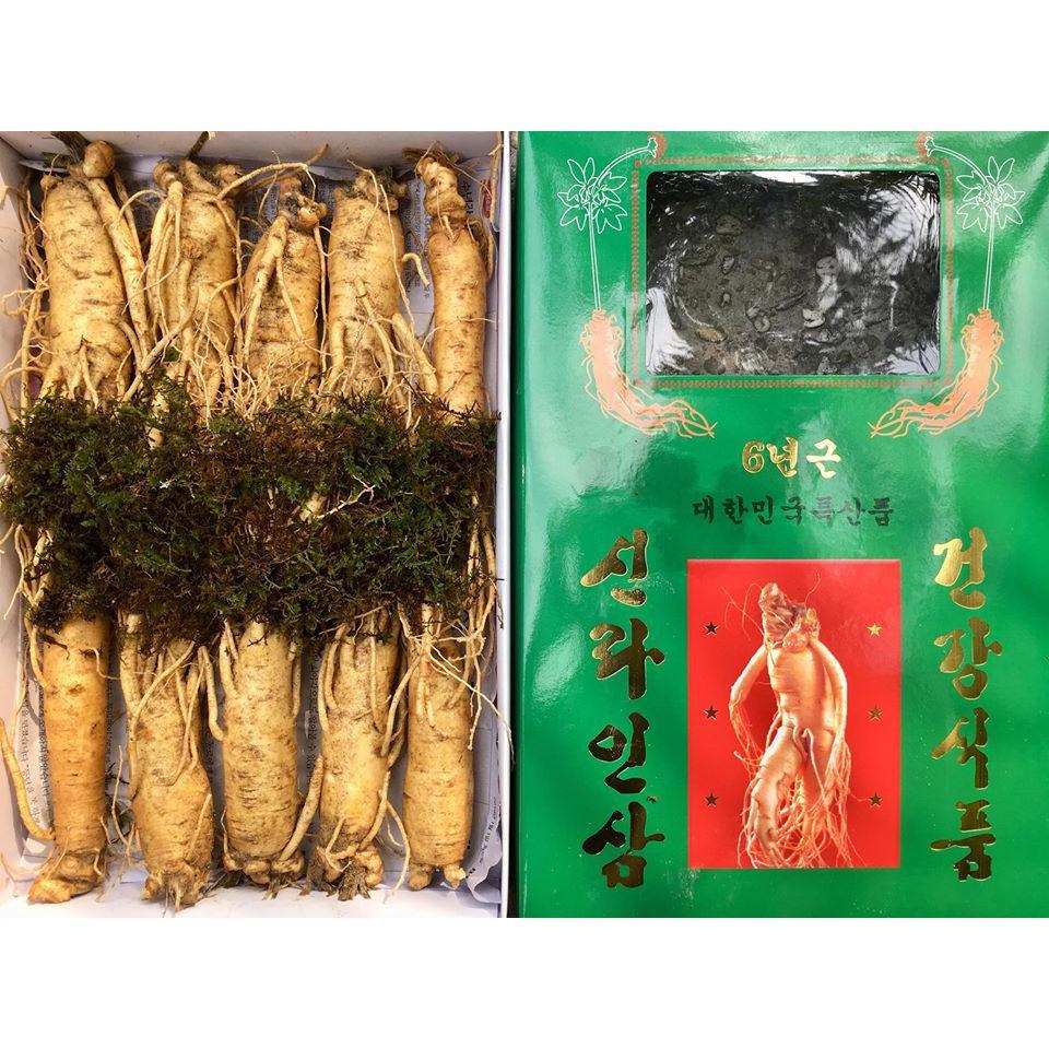 Nhân Sâm Tươi Hàn Quốc 6 Năm Tuổi – 10, 15, 20, 35 củ/1kg - check giá