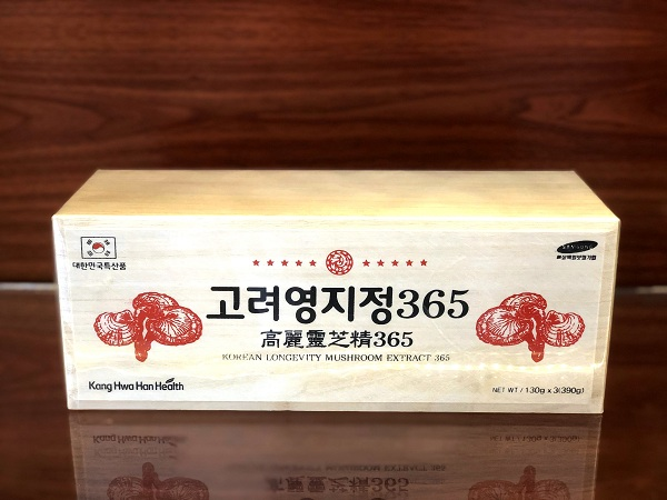 Quà tặng cao nấm linh chi Korean longevity mushroom extract 365